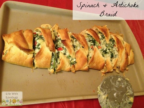 Spinach Artichoke Braid - Appetizer or Brunch dish. Looks delicious & easy to make!