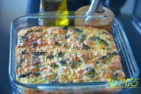 Pastel de Brócoli   Dukan y Thermomix