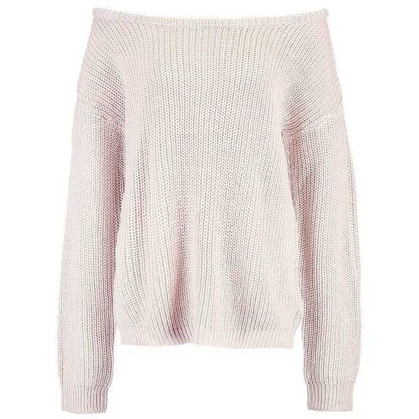 OPHELITA OFF SHOULDER Jumper nude/oatmeal (56 BRL) ❤ liked on Polyvore featuring tops, sweaters, off the shoulder jumper, pink off shoulder sweater, off shoulder jumper, pink off the shoulder top and pink off shoulder top