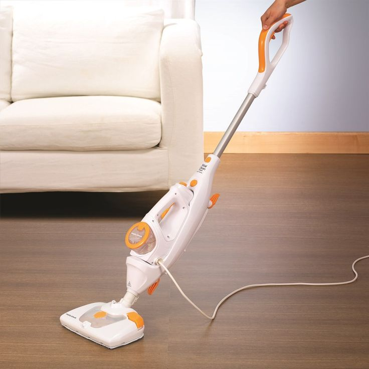 The Total Clean Fresh is a steam cleaner that features a spray function on the floorhead, allowing you to add cleaning solution. This versatile 2 in 1 can be used in both upright and handheld modes and has up to 12 minutes of steam time.