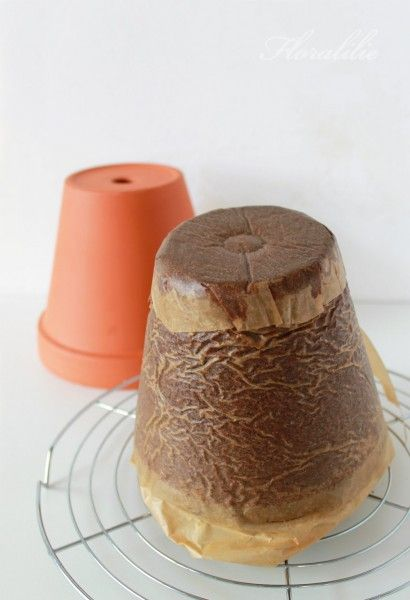 Flower Pot Cake Tutorial.....I'm going to make this for my mothers 80th birthday, june 29.