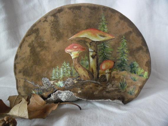 Tinder Fungus Art Mushrooms Tree Conk Shelf Mushroom By