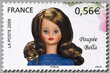 Poupée Bella Les poupées de collection - Timbre de 2009