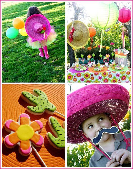 Festa Maxicana. Uma idéia diferente de festa, as crianças vão adorar brincar com chapelões! Fonte: www.thecakeblog.com