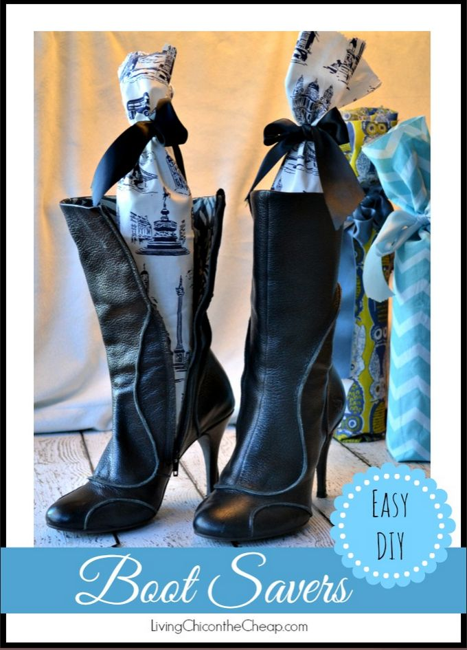 DIY Boot Savers!!! Make Your Own Boot Savers from Plastic Water Bottles! I made this version lavender scented. This is a super easy and inexpensive DIY. Great UPCYCLING project too! #DIY