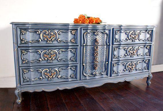 Sold Shabby Chic Dresser French Provincial Dresser Vintage Buffet Painted Furniture Hand Painted Romantic Boho Cottage Chi Deco Interieure Deco Et Peindre