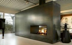 Modern Double Sided Fireplace