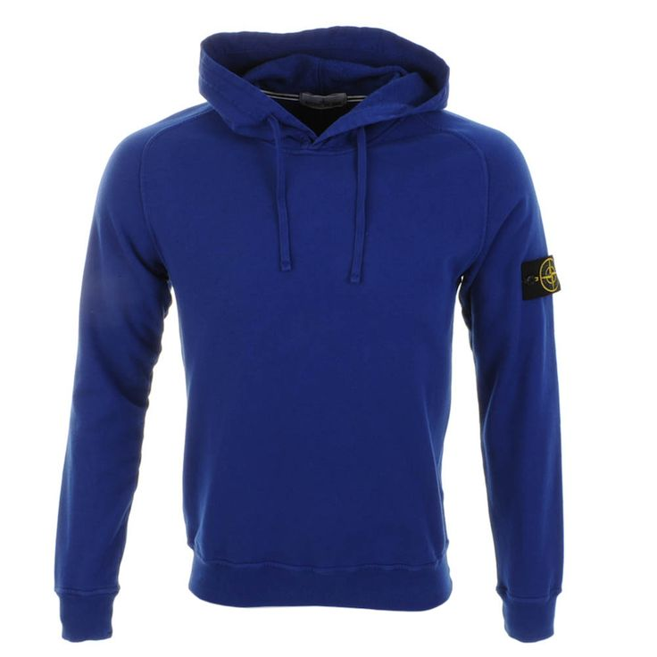 Stone Island > Stone Island Hooded Jumper Blue > Stone Island Jumpers Stone Island Sweatshirts @ Mainline Menswear Mens Stone Island Clothing Stockists Online UK