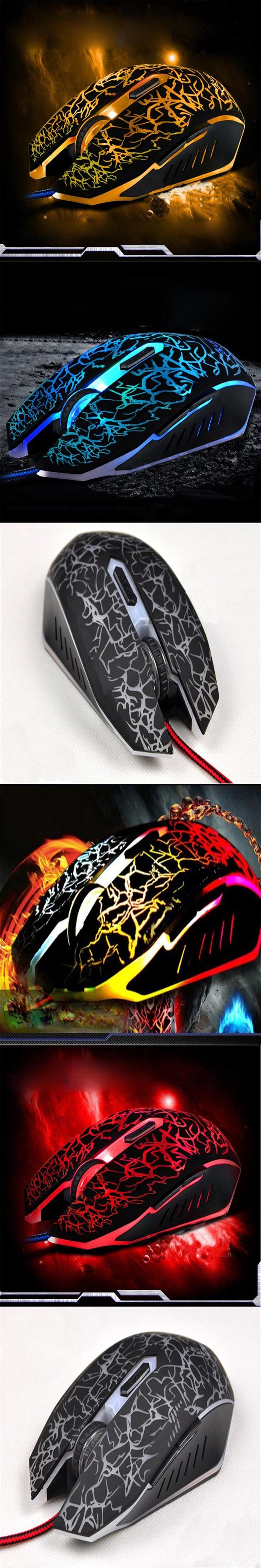 Wired Mouse Portable gaming Wired bluetooth Professional Colorful Backlight 4000DPI Optical Wired Gaming Mouse Mice 35