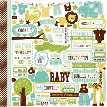 Element Stickers - Boy Bundle of Joy - Echo Park