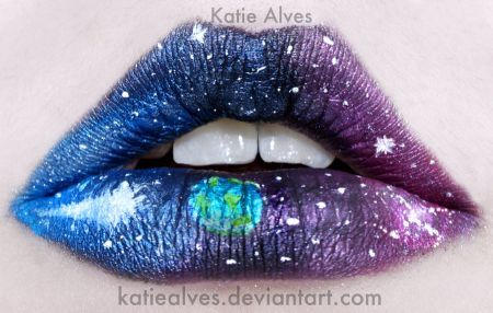 outer space lipsLips Gloss, Galaxies, Spaces Lips, Blue, Makeup Lips, Lips Makeup, Lips Art, Lipart, Outer Spaces
