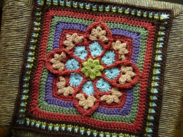 Stained Glass Afghan Square: Squares Patterns, Patterns Nic Colors, Glasses Afghans, Crochet Motif, Crochet Squares, Afghans Squares, Square Patterns, Free Patterns, Crochet Patterns