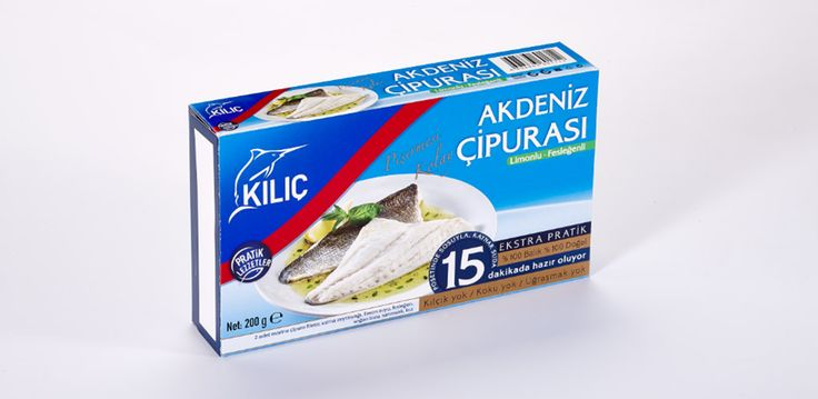 Fesleğenli & Limonlu Akdeniz Çipurası Porsiyonluk olarak, sosu ile birlikte vakumlu poşetlerde hazırlanmıştır. Temizleme ve kılçıkla uğraşmadan özel poşeti ile birlikte kısa sürede pişirilip tüketilebilinir. Kullanım: Fırında veya kaynayan suyun içine poşeti ile atılarak pişirilir. Miktar Beslenme faktörleri: Çipura iyi bir protein kaynağıdır, aynı zamanda Omega 3 açısından zengindir.