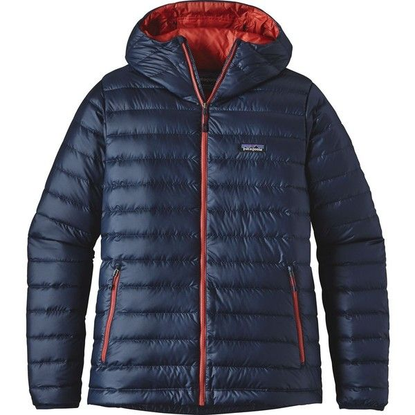 Patagonia Down Sweater Hooded Jacket ($237) ❤ liked on Polyvore featuring men's fashion, men's clothing, men's outerwear, men's jackets, mens jackets, mens insulated ski jackets, patagonia mens jacket and mens hooded jackets