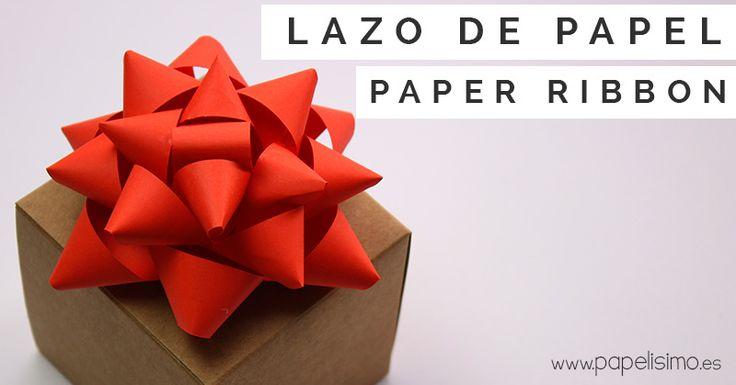 lazo-de-papel-para-regalo-paper-ribbon