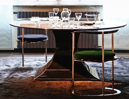 Catilina small piccolo dining or side chair designed by Luigi Caccia Dominioni Azucena