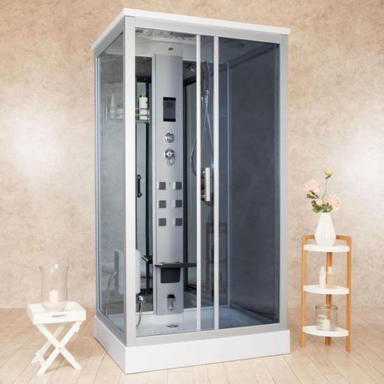 Cabina idromassaggio 110x90 cm box doccia multifunzione