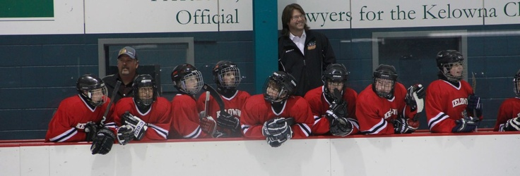Kelowna Minor Hockey team bench shot