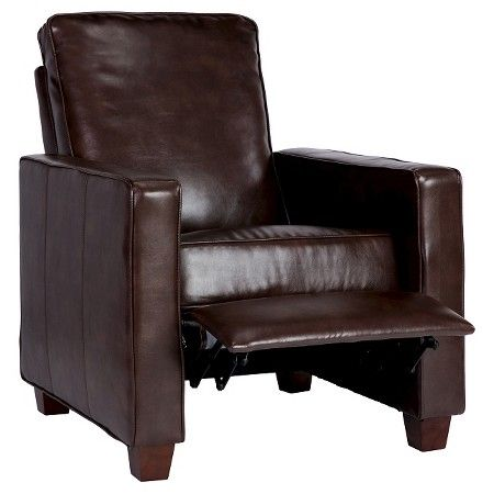 Square Arm Bonded Leather Recliner - Threshold™ : Target