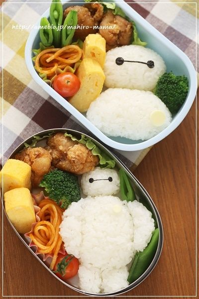 Baymax bento! I think it would be great if for my kids I had them watch a movie and for the next day at school they had the characters in their lunch box.: