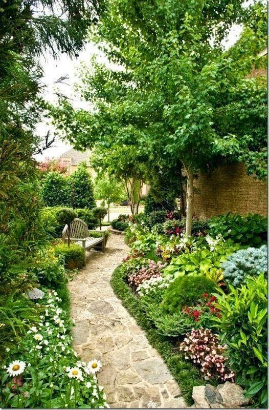 Beautiful side garden, Beautiful path in garden