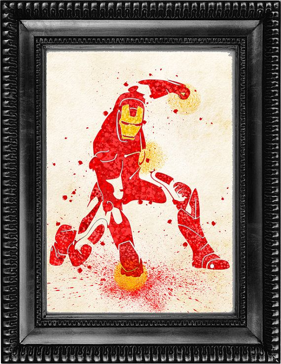 Digital download of Iron Man  Download is 8 x 10 but is available in any size that you prefer at no additional cost.  8 x 10 image is available