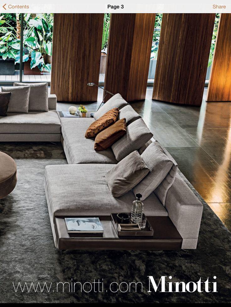 White Sofa By Minotti Furniture