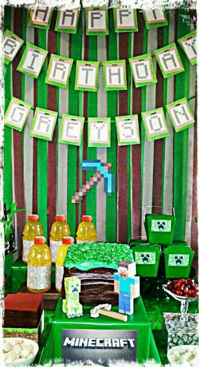 Minecraft party display