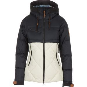 Photograph of  Aya Hooded Down Jacket - Women's Black/Bone, XS - Excellent view 1