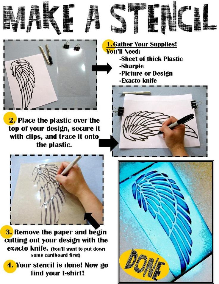 How to Make a Stencil Library program for teens, site also includes directions for stenciling tshirts.