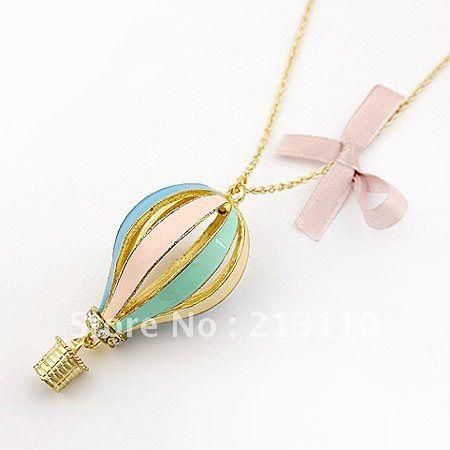 Длинное Ожерелье для Женщин Винтаж Звено Цепи Парашют Ожерелье Себе Ювелирные Изделия Ожерелье Bijoux Collier