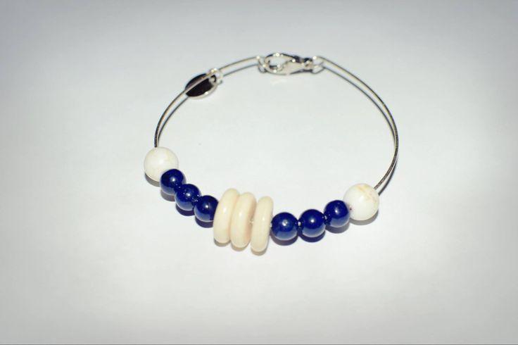 – 148 lei – argint, lapis lazuli, howlit