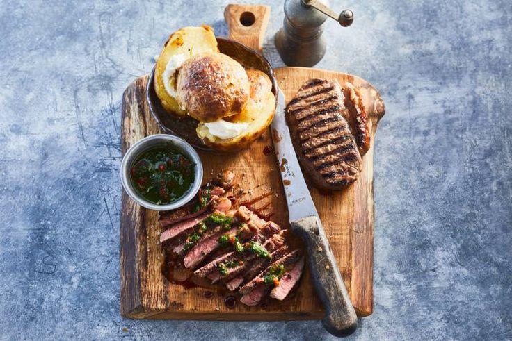 Vlees hoef je echt niet altijd te marineren, je kunt het ook eten met een heerlijke verse Argentijnse chimichurri- recept - Allerhande