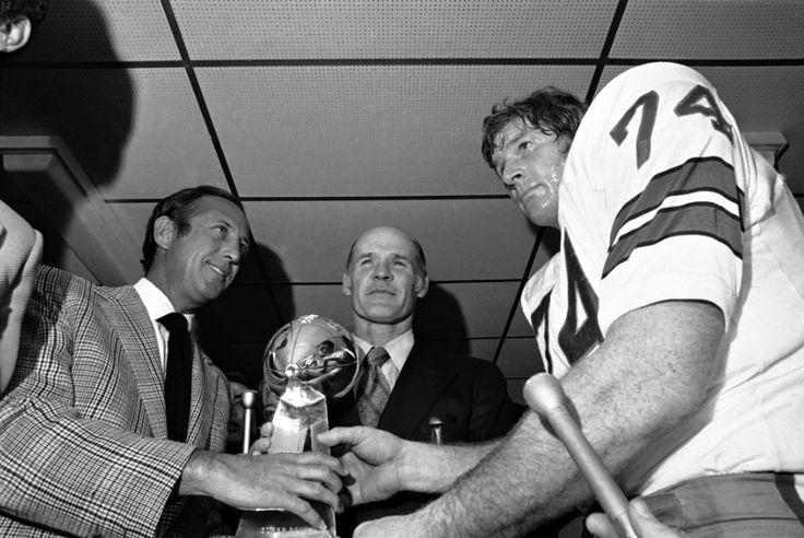 Pete Rozelle,Tom Landry & Bob Lilly after Super Bowl 6