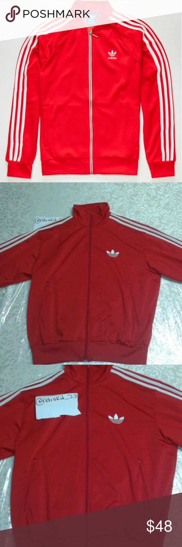 Adidas superstar red tracksuit Barley worn 8/10 Adidas Jackets & Coats Windbreakers