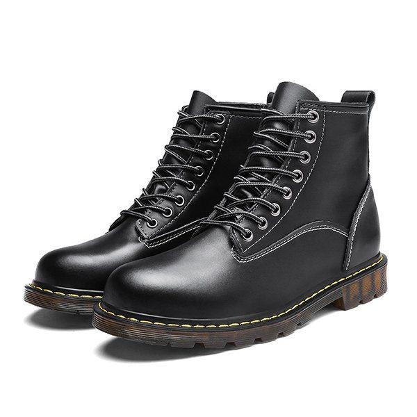 men cow leather vintage color casual boots  men cow leather vintage color casual boots  #men's shoes