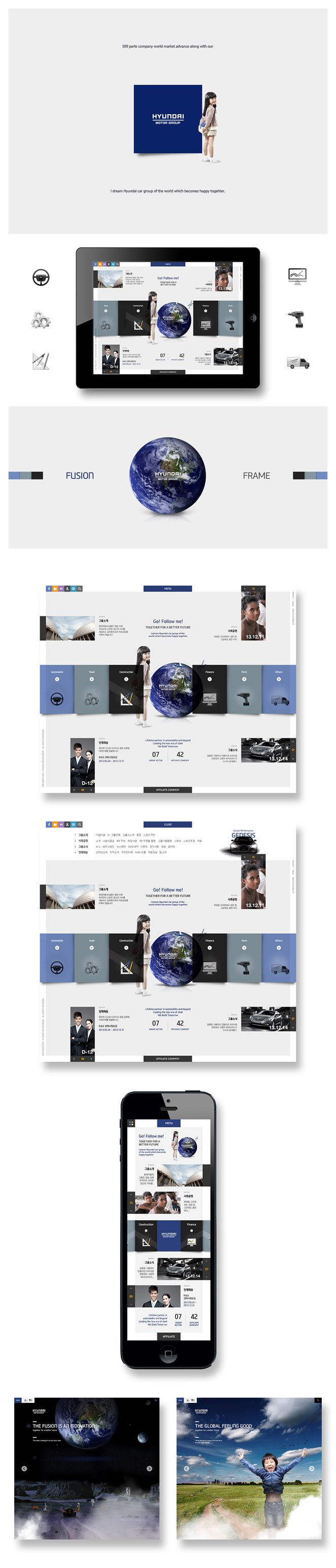by BLACK Draft / Hyundai-motor-Group-responsive-web byBLACK UI which is progressive than the fusion, that is the core brand strategy of the Hyundai Motor group.