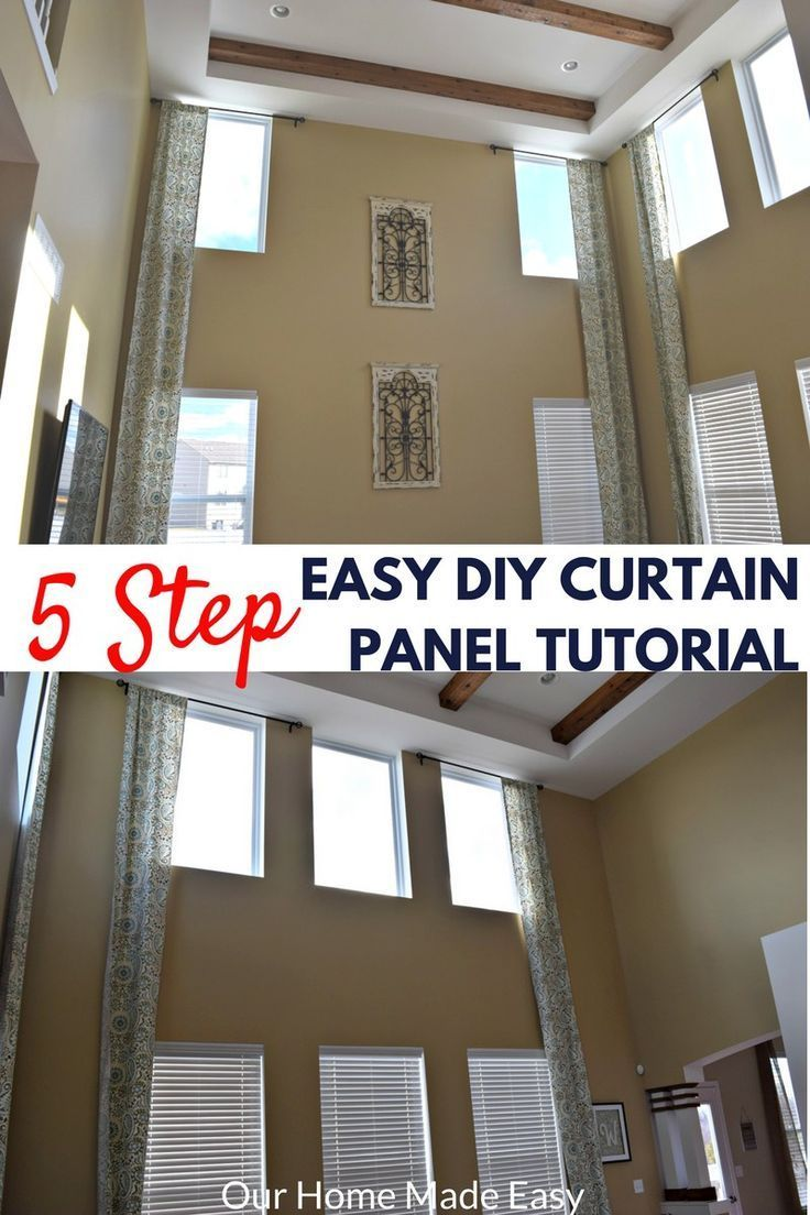 Easy Diy Two Story Curtain Panels In Only 5 Steps Diy Curtains