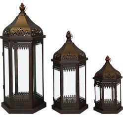 Kovové lucerny Orient 3ks