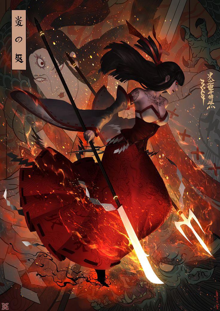Fire witch  , mist XG on ArtStation at https://www.artstation.com/artwork/xKzEY?utm_campaign=digest&utm_medium=email&utm_source=email_digest_mailer