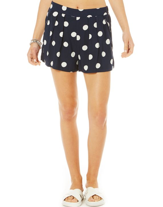 Spotted Crochet Trim Shorts