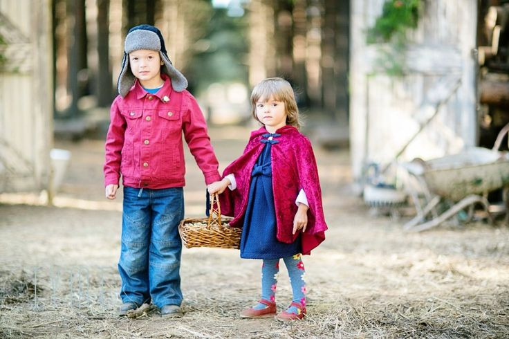 Little red riding hood flower girl and winter paige boy Tyme Photography