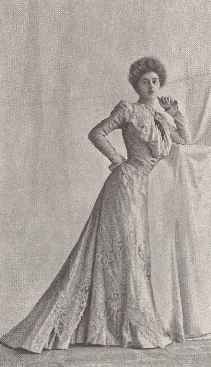 1901, Septembre - Les Modes Paris - Visiting dress by Blanche Lebouvier
