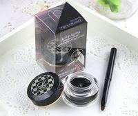 Negro y Brown Delineador Gel Delineador de ojos a prueba de agua del maquillaje cosmético + cepillo del maquillaje de 2colors 2pcs / lot envío libre