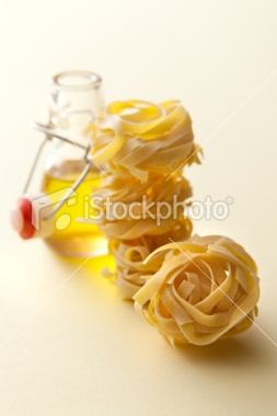 Italian Ingredients: Tagliatelle and Olive Oil | Stock Photo | iStock