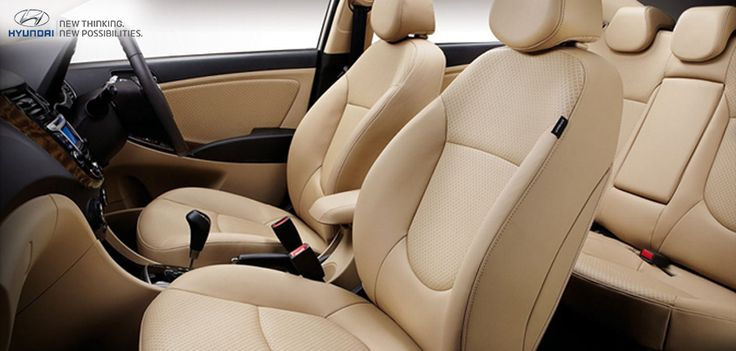 The beige leather upholstery of the Hyundai Verna gives you a feeling of class and royalty. Don't you agree?