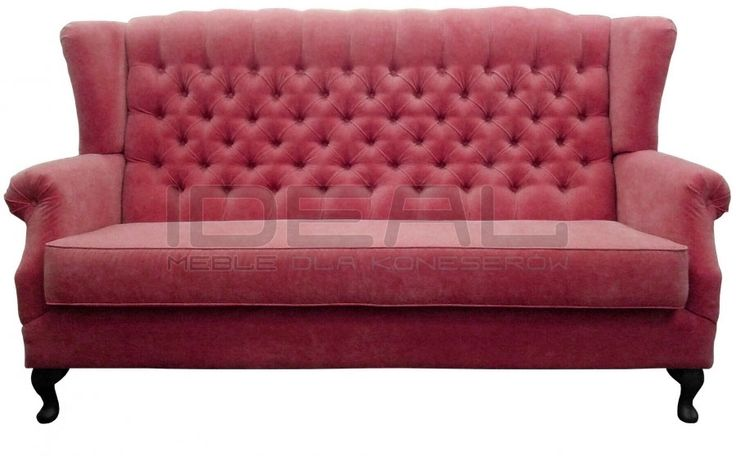 czerwona sofa chesterfield, red chesterfield, pluszowa sofachesterfield, velvet chesterfield,skórzana, skin, styl angielski, red, sofa chesterfield, armchair ,  karmazyn, ceglana, perpur , sofa uszak   sofa_uszak_07.jpg (900×558)