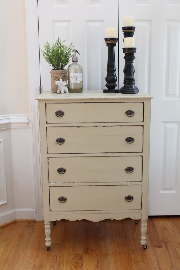 Vintage Chest of Drawers - Annie Sloan Chalk Paint - Country Grey - Dresser - Bedroom by InteriorsWithAStory on Etsy https://www.etsy.com/listing/256517707/vintage-chest-of-drawers-annie-sloan