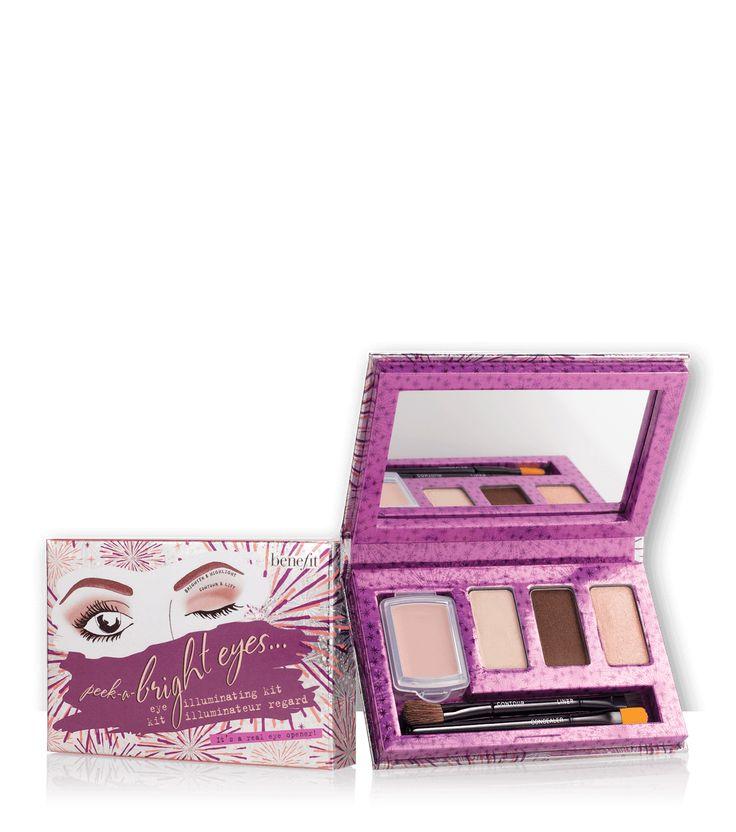 peek-a-bright eye brightening eyeshadow kit | Benefit Cosmetics Makeup for glasses