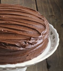 Chocolate icing-2 10-ounce packages semisweet chocolate chips     ½ cup hot brewed coffee     ¼ cup boiling water     ½ cup light coconut milk     4-ounces silken tofu